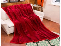 大红晴纶毯