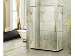 开放式钢化方形淋浴房