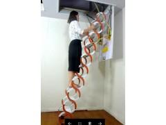 碳钢半自动加宽伸缩楼梯