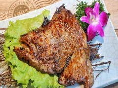 炭烤鲽鱼头