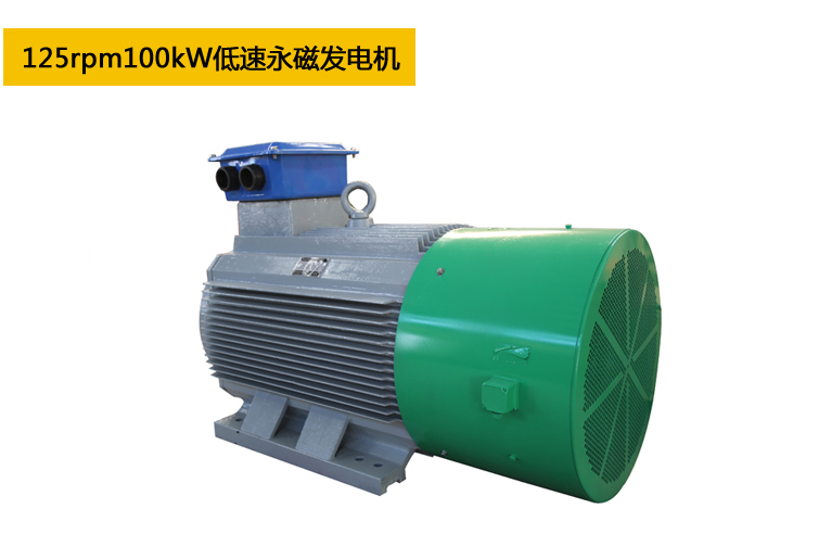 125rpm100kW低速永磁发电机
