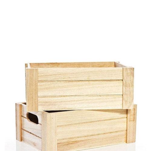 实木带扣手木箱
