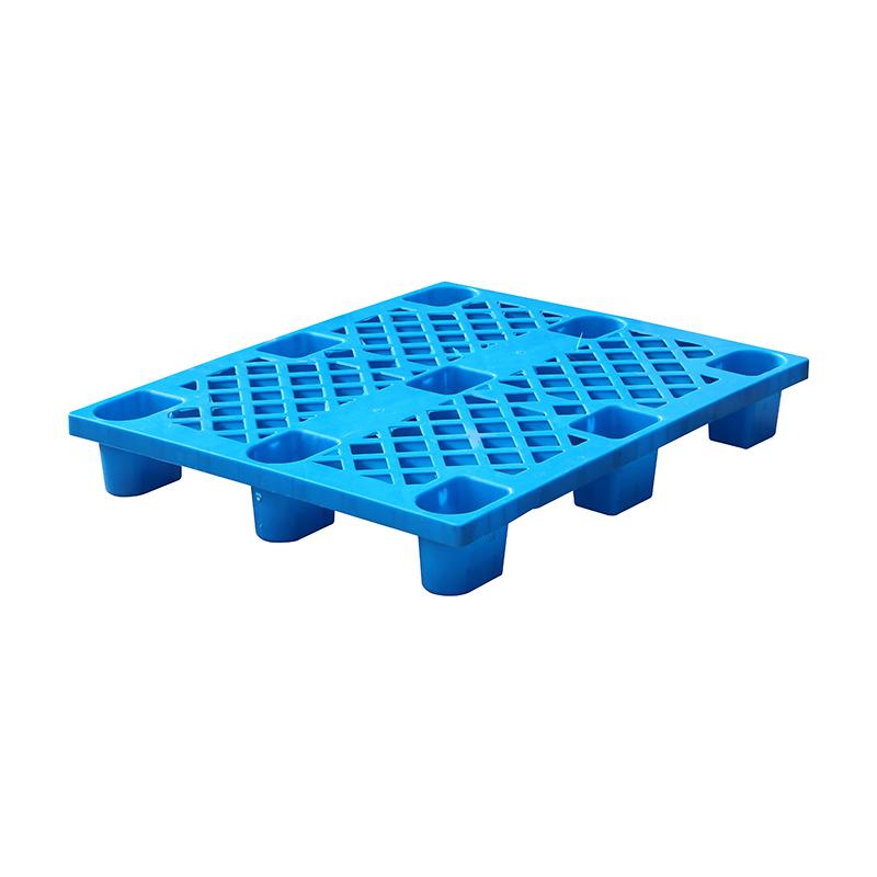 河北厂家生产塑料托盘    防潮九脚网格托盘