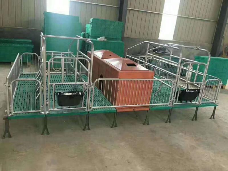 保育床漏粪板母猪定位栏呼和浩特市铸铁腿料线母猪产床